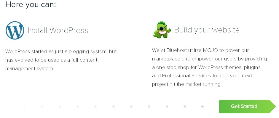 bluehost wordpress installlation no 3