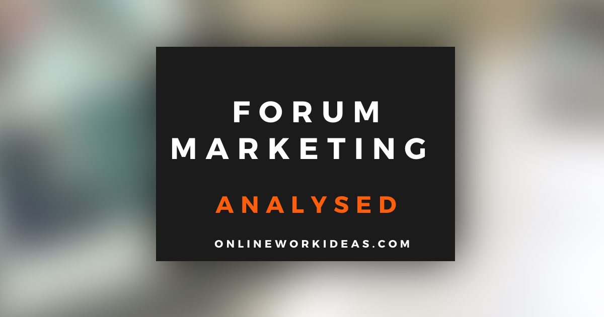 What is Forum Marketing