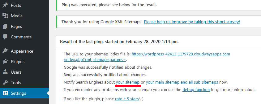How to notify search engines with google xml sitemaps wordpress plugin