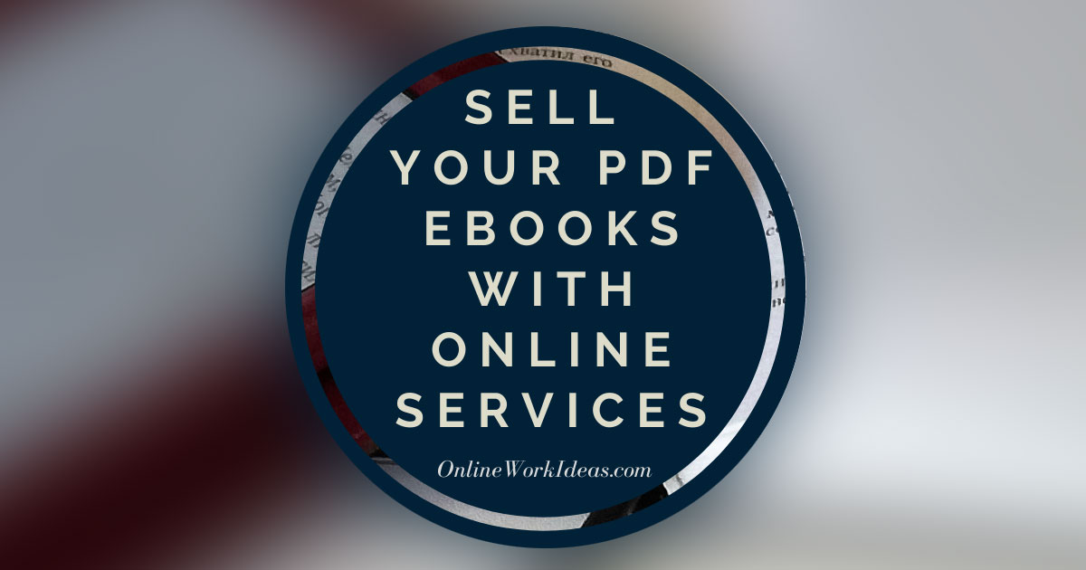 Sell your PDF Ebooks with Online eServices