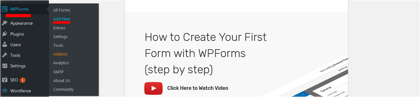 how to add new contact form wpforms